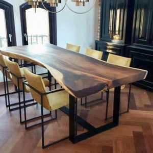 Furniture Kayu Trembesi Meja Makan Model Minimalis