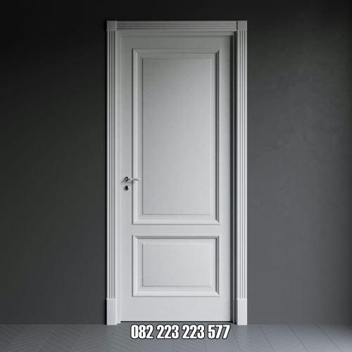 Pintu Kamar Mandi Minimalis Kayu Cat Duco Putih