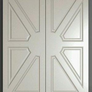Desain Daun Pintu Utama Double Kupu Tarung Motif Terbaru