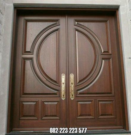 Kusen Pintu Minimalis Utama Kupu Tarung Kayu Jati Daun Pintu Rumah