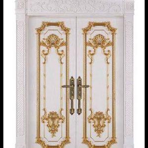 Pintu Rumah Mewah Klasik Eropa Ukiran Jepara