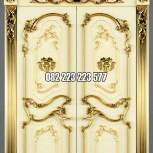 Pintu Rumah Mewah Klasik Ukiran Jepara Model Kusen Lengkung