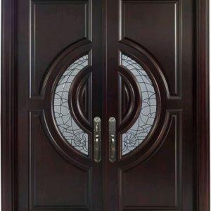 Pintu Rumah Murah Model Daun Kupu Tarung Kaca Patri