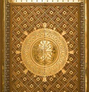 Pintu Utama Masjid Ukiran Nabawi Model Mewah