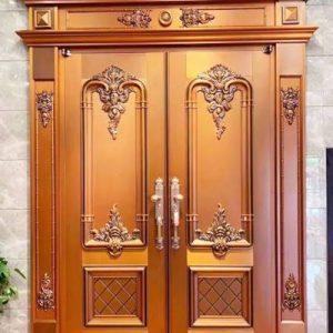 Pintu Utama Rumah Model Klasik Bergaya Cluster