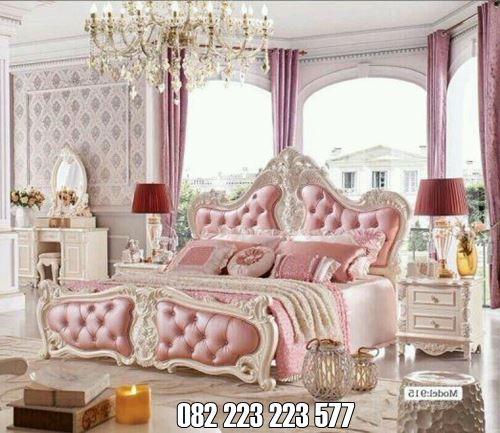 Set Tempat Tidur Warna Pink Putih Untuk Pasangan Suami Istri