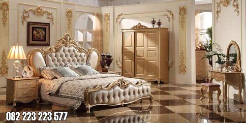 Set Kamar Mewah Elegan Ukian Klasik Warna Gold