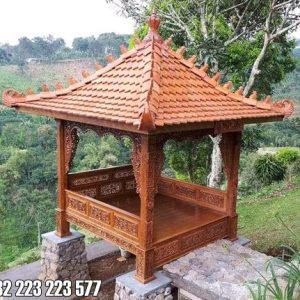 Gazebo Ukir Jati Jepara Untuk Villa Dan Homestay