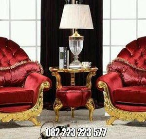 Sofa Mewah Warna Gold Ukir Klasik Jepara