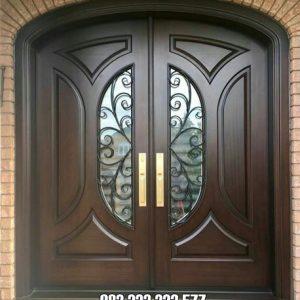 Motif Pintu Rumah Kayu Jati Kupu Tarung Utama