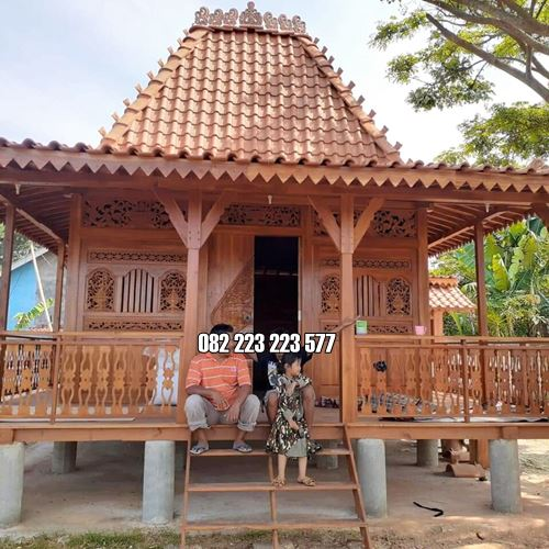 Rumah Kayu Ukir Jati Jepara Model Atap Joglo