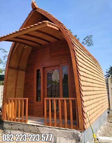 Rumah Kayu Untuk Villa Model Minimalis