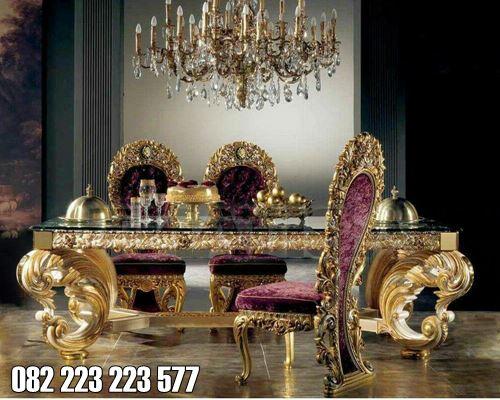 Meja Makan Klasik Eropa Ukiran Mewah Princess