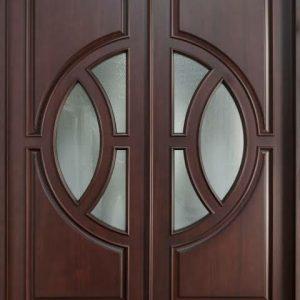 Pintu Jati Mewah Model Minimalis Kupu Tarung
