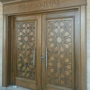 Pintu Masjid Kayu Jati Minimalis Ukir Jepara