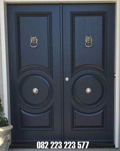 Pintu Rumah Minimalis Kupu Tarung Motif Terbaru