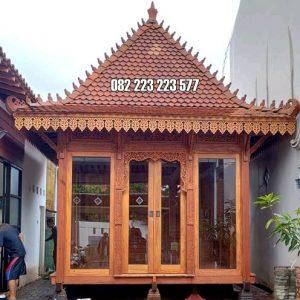 Aula Rumah Kayu Minimalis Ukir Buatan Rama Jaya Jati Jepara