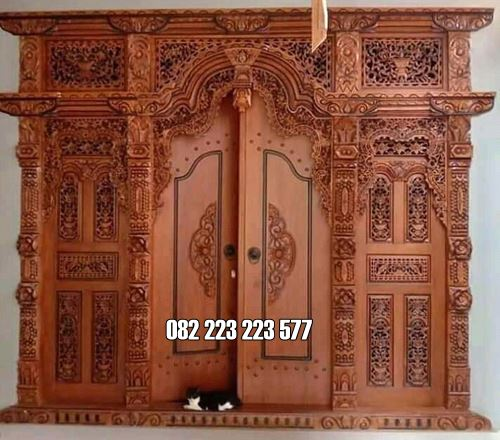 Pintu Gebyok Jati Jepara Ukiran Klasik
