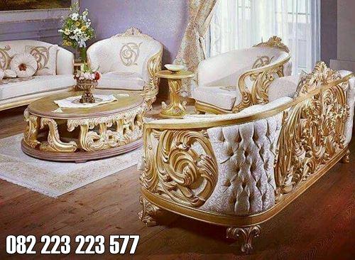 Sofa Tamu Klasik Model Ukiran Mewah Jati Jepara