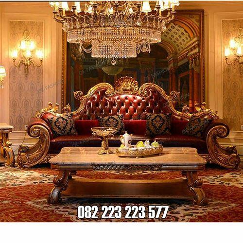 Kursi Tamu Royal Ukir Klasik Untuk Ruangan Rumah Mewah