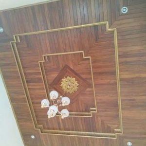 Plafon Kayu Teras Rumah Minimalis Jati Jepara