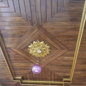 Plafon Rumah Kayu Jati Motif Minimalis Terbaru