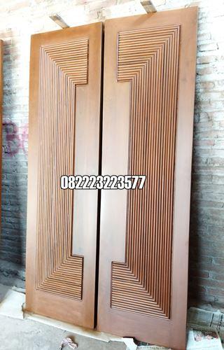 Pintu Depan Minimalis Kayu Jati Model Tali Air