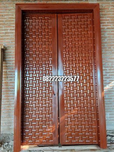 Pintu Ukir Minimalis Kayu Jati Model Kotak Terbaru