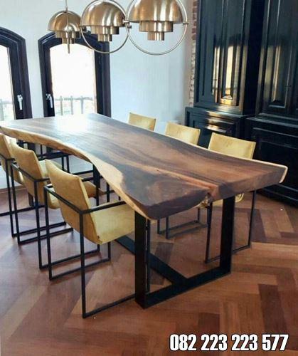 Furniture Kayu Trembesi Meja Makan Model Minimalis