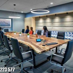 Meja Kayu Trembesi Utuh Untuk Ruang Rapat Kantor