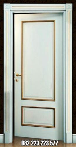 Model Pintu Kamar Minimalis Warna Putih Kombinasi Emas