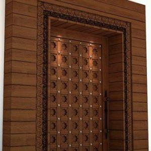 Pintu Minimalis Utama 1 Daun Motif Turki