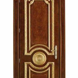 Pintu Kamar Jati Jepara Motif Ukir Mewah Warna Gold