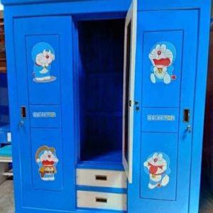Lemari Anak Karakter Doraemon 3 Pintu
