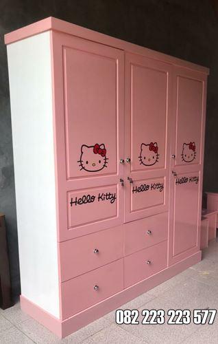 Lemari Pakaian Anak Karakter Hello Kitty