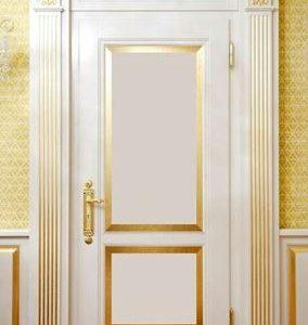 Pintu Kamar Tidur Mewah Cat Duco Putih Gold