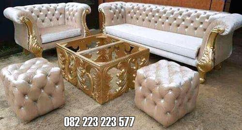 Sofa Ruang Tamu Mewah Terbaru Model Minimalis Ukir Jepara
