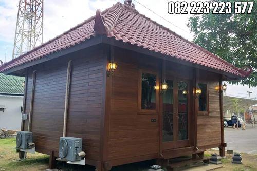 Model Rumah Kayu Minimalis Modern Pakai AC