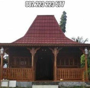 Rumah Kayu Limasan Jati Model Joglo