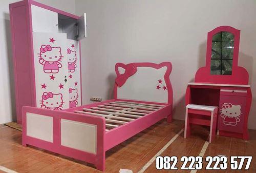 Kamar Set Anak Minimalis Model Karakter Hello Kitty
