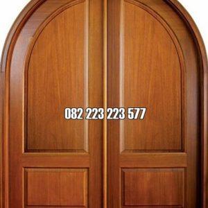 Pintu Minimalis Lengkung Kayu Jati Harga Murah