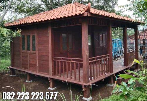 Rumah Kayu Minimalis Model Teras 1 Kamar