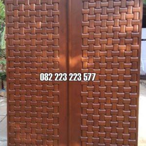 Model Pintu Rumah Terbaru Motif Minimalis Jati