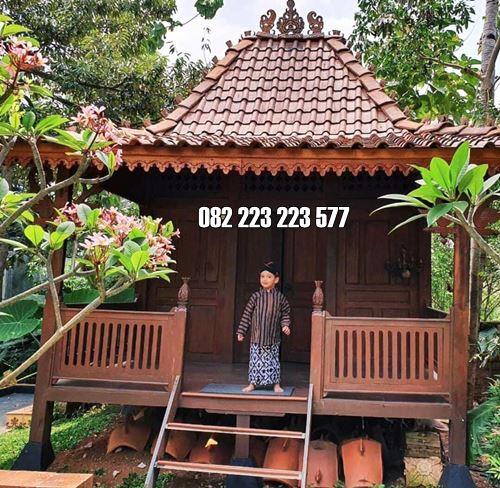 Mushola Kayu Model Panggung Kayu Jati Ukiran Jepara