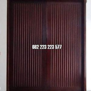 Pintu Rumah Modern Untuk Kusen Utama Motif Salur