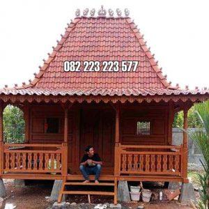 Rumah Kayu Geladak Model Joglo Panggung Jati Jepara