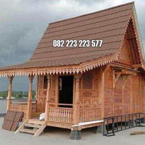 Rumah Kayu Kecil Mini Model Joglo Geladak Kayu Jati