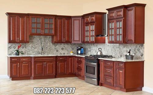 Kitchen Set Kayu Jati Model Modern Harga Murah