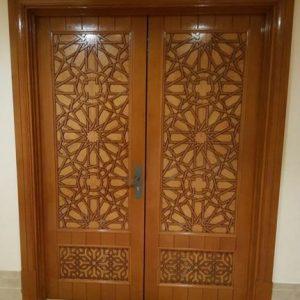 Kusen Pintu Musholla Kayu Jati Model Kupu Tarung