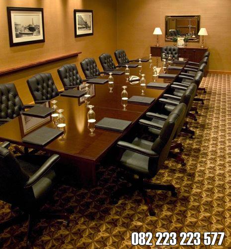 Meja Meeting Besar Untuk Kantor Kayu Jati Jepara